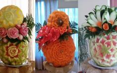 Corso di intaglio artistico di frutta e verdura